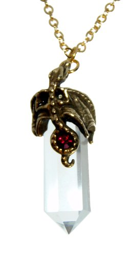 Quarts Cristal with Bronze Dragon Pendant