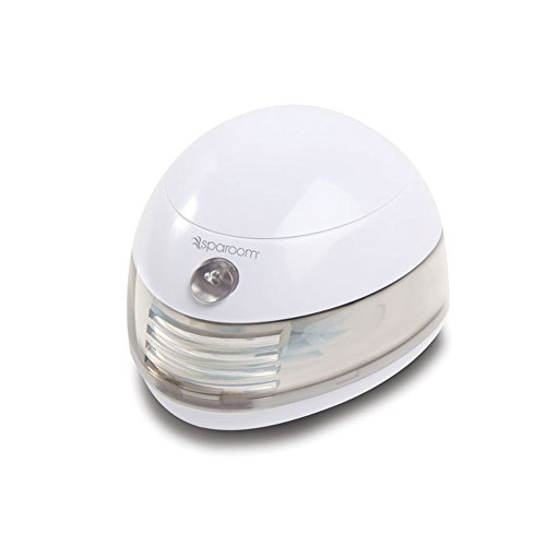 SpaRoom Aromafier Portable Fragrance Essential Oil Diffuser, Battery And USB Computer Powered Aromatherapy, White