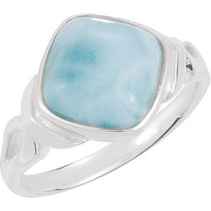 925 Sterling Silver Larimar Ring - (Size 6.0)