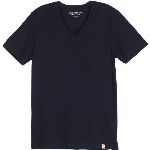 True Religion Mens Short Sleeve V Neck Tee Tee Shirt, Blue, Medium at Sears.com
