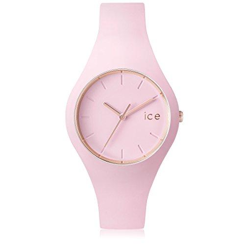 Ice Watch Glam Pastel Orologio da Polso, Quadrante Analogico da Uomo, Cinturino in Silicone, Rosa