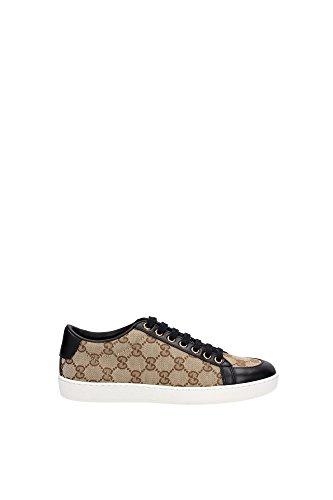 Sneakers Gucci Donna Tessuto Beige e Nero 338883FTAZ09767 Beige 39EU
