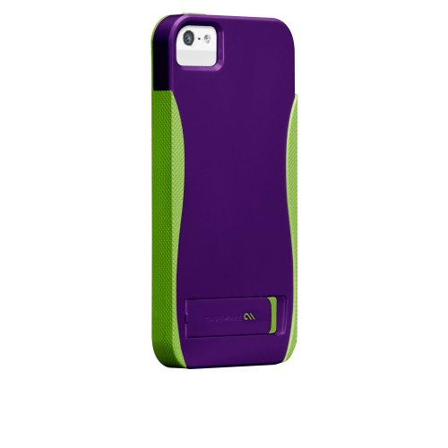 Case-Mate 日本正規品 iPhone5 POP! with Stand Case, Violet / Chartreuse Green ハイブリッド シームレス スタンド ケース CM022380