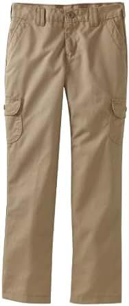 Dickies Big Girls' Slim Straight Cargo Pant, Desert Sand, 6X Regular