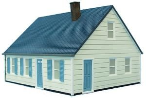 Levittown Capcod House Ho Scale Imex