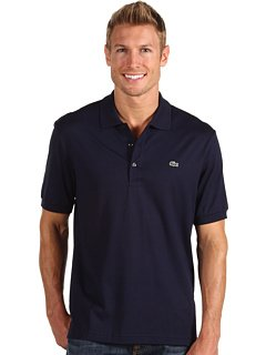 Lacoste Men's Short Sleeve Classic Fit Solid Pima Jersey Polo -Navy Blue (XL)