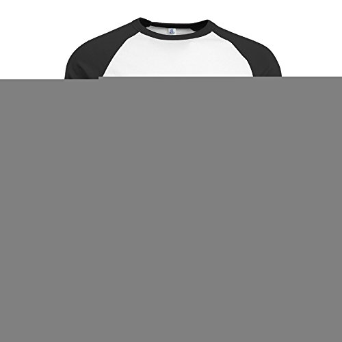 [BMW47' Men's Unique Line Mask 3/4 Sleeve Raglan Tee T Shirt - Small] (National Costumes Of Columbia For Men)