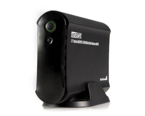StarTech.com UNI3510U2EB 3.5-Inch eSATA USB 2.0 to IDE SATA External Hard Drive Enclosure (Black)