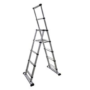 Extension Telescopic Telescoping Ladder 145 Ft Portable