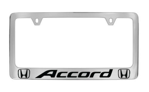 Chrome Honda Accord License Plate Frame (metal) (Honda Accessories Accord compare prices)