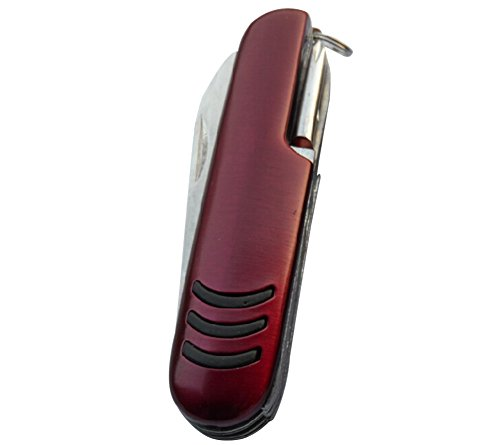 13 Functions Mini 90Mm Swiss Army Classic Pocket Knife(Red)