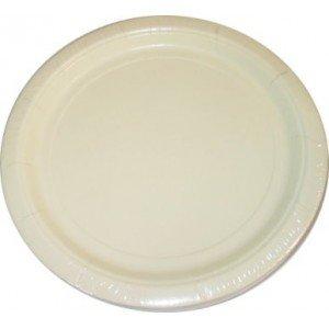 Vanilla Cream Paper Lunch Plates 20Ct front-84865
