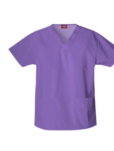 Dickies Scrubs Women'S Classic V-Neck Top, Violet, X-Large