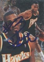 Steve Smith Atlanta Hawks 1995 Fleer Flair Autographed Hand Signed Trading Card -... by Hall+of+Fame+Memorabilia