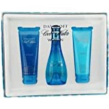 Davidoff Cool Water Woman Eau de Toilette 100 ml/ Body Lotion 75 ml/ Shower Gel Gift Set for Her 75 ml