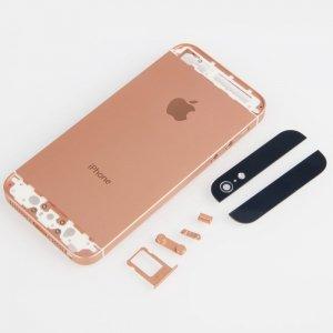 protective back cover case w logo for iphone 5 rose gold. Black Bedroom Furniture Sets. Home Design Ideas