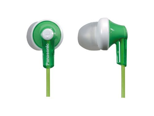 Panasonic Rp-Hje120 Ergofit In-Ear Headphones Stereo Earbuds (3-Pack, Green)