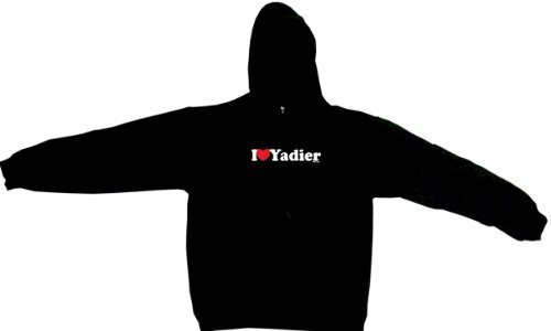 I Heart Love Yadier Men's Hoodie Sweat Shirt Large, Black at Amazon.com