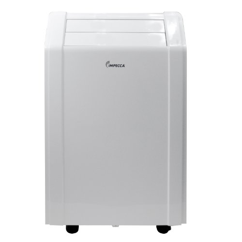 Impecca 8,000 BTU/h Portable Air Conditioner with Electronic Controls 8.9 EER it has 3 Cooling Speeds and 3 Fan-Only Speeds, 2-Way Auto Swing, 24-Hour Timer, Dry Mode, Auto Restart includes Remote Control