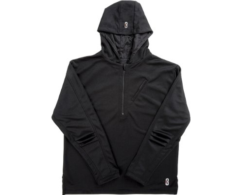 Hoodie - Men'S Outdoor Hooded Basketball Top By Point 3 (Black, Large)