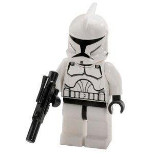 LEGO STAR WARS MINI FIGURE - CLONE WARS - CLONE TROOPER & BLASTER