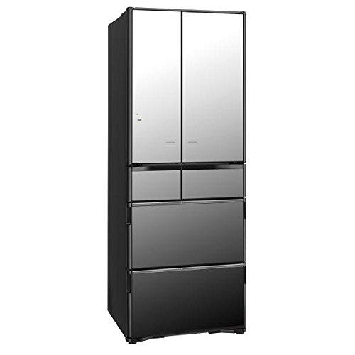 日立 517L 6ドア冷蔵庫(クリスタルミラー)HITACHI 真空チルド R-X5200F-X