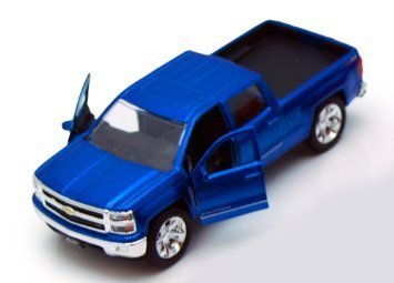 Chevy Silverado Pickup Truck, Blue - Jada Toys Just Trucks 97017 - 1/32 scale Diecast Model Toy Car (Chevy Toy Trucks compare prices)