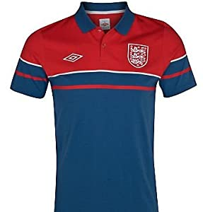 2012-13 England Umbro Media Polo Shirt (Red-Navy)