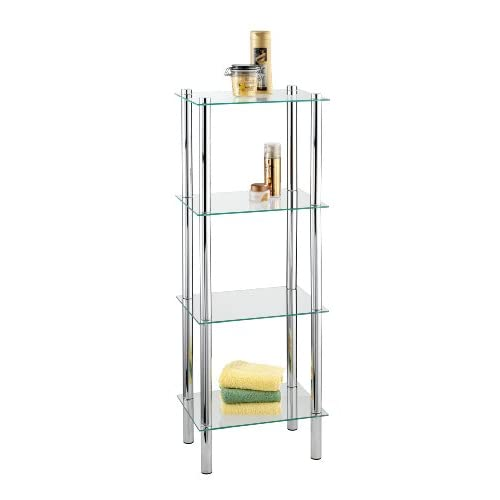 Wenko Germany Safety Glass And Chrome Bathroom Shelf Unit