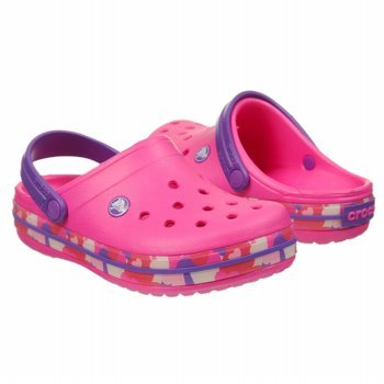 Crocs 14607 CB Heart Camo Clog (Toddler/Little Kid),Neon Magenta/Neon Purple,6 M US Toddler