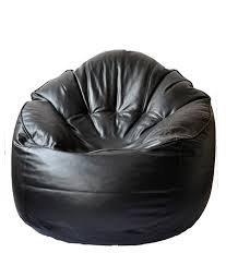 S M Bean Bag Full SOFA BEAN BAG Cover (SM SUPER CLASSIC QUALITY SOFA Bean Bag) (Black)