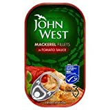 John West Mackerel Fillet In Tomato 125g x 10
