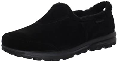 Skechers Women's Toasty Slip-On,Black,8 M US