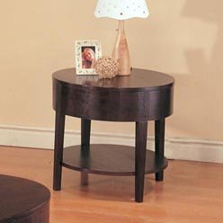 Cheap Gough Round End Table with Shelf by Coaster (B0051PE4MY)