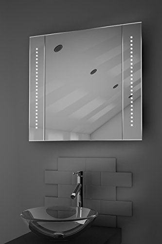 Elegant Astound LED Illuminated Bathroom Mirror Cabinet With Sensor u Shaver k