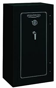 Stack-On FS-24-MB-E 24-Gun Fire Resistant Safe with Electronic Lock, Matte Black by STACK-ON