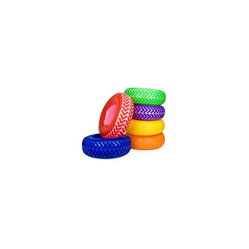 Fun Express BB018375 Inflatable Tire Obstacle Course - 6-Set