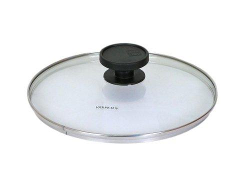 ALLUFLON Coperchio in vetro con bordo inox diam. 16 cm.