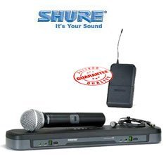 Shure Pg Wireless Handheld And Lavalier Dual Microphone System Pg1288/Pg185