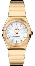 Omega Constellation 2009 Mother of Pearl Dial 18kt Yellow Gold Ladies Watch 12350276005004