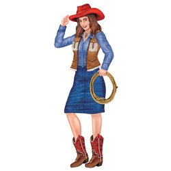 Beistle Jointed Cowgirl Party Accessory (1 count) (1/Pkg) at Sears.com