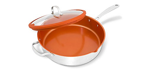 NuWave 31188-Inch Stainless Steel Everyday Pan with Lid, 12