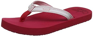 Reef Little Stitched Cushion Red/white Casual Sandal R5112rew 3.5 Uk Youth, 4.5 Us