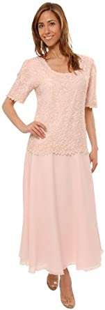 Mother of the Bride Great Tea Length Dress in Pink Plus