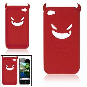 iPhone4 シリコンケース/悪魔 デビル(赤) Devil レッド Red