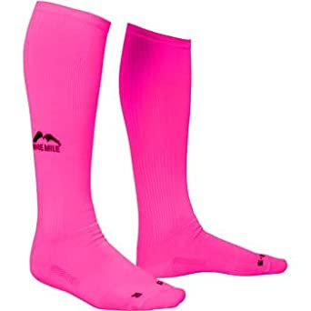 More Mile Knee High Compression Sports Running Calf Socks