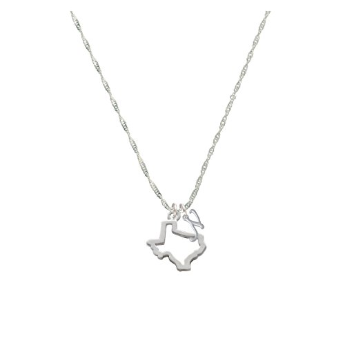 Texas Outline Mini Gelato Initial - N - Grace Necklace