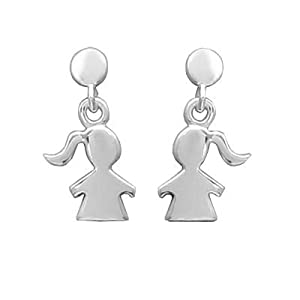 So Chic Jewels - Sterling Silver Girl Drop Earrings