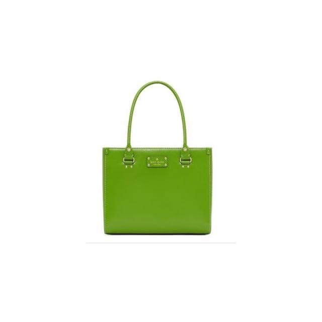 Kate Spade Wellesley Quinn Vine Green Leather Handbag