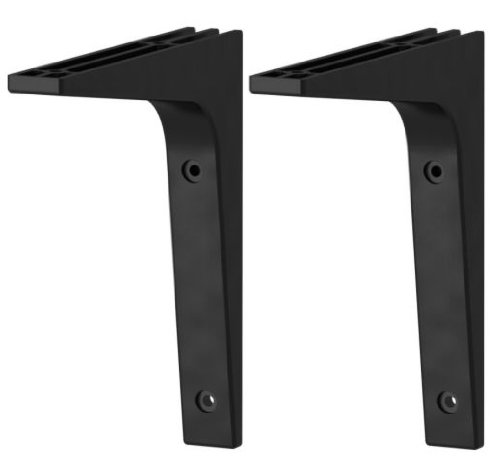 Ikea Wall Shelf and 2 Brackets, Black-brown леггинсы printio индия